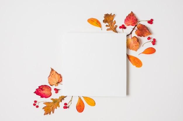 Spazio vuoto della copia con la struttura delle foglie di autunno Foto Gratuite