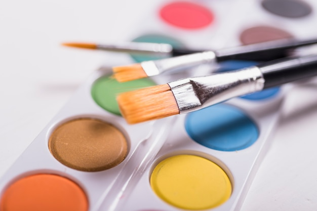 Spazzole colorate con acquerello Foto Gratuite