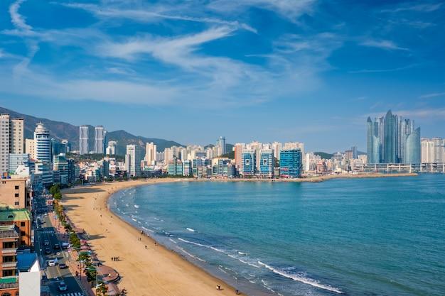 Spiaggia di gwangalli a busan, corea del sud Foto Premium
