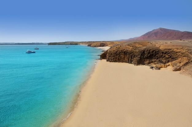 Spiaggia lanzarote playa del pozo costa papagayo Foto Premium