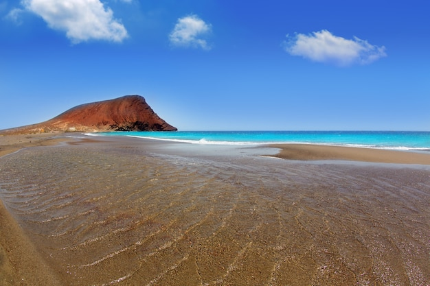 Spiaggia playa de la tejita a tenerife Foto Premium