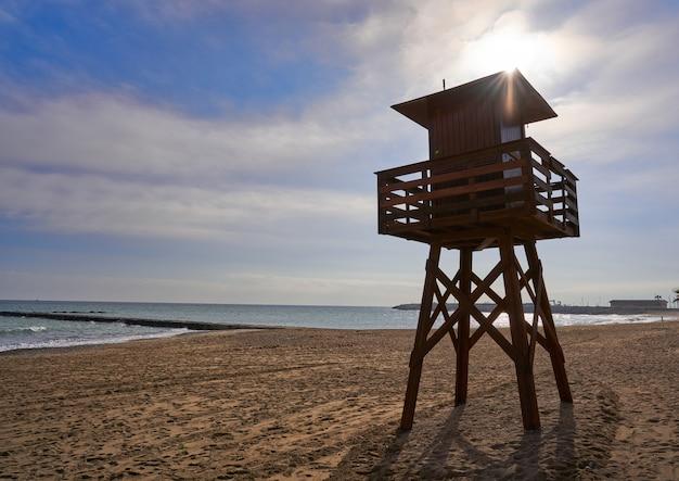 Spiaggia vinaroz playa del forti a castellon Foto Premium