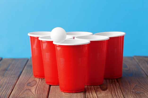 Sport di festa al college - birra pong Foto Premium