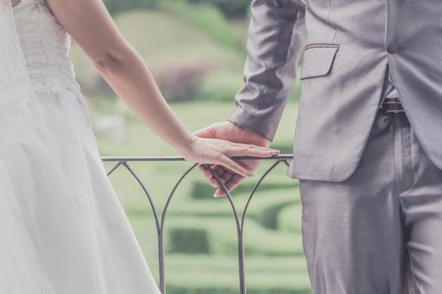 Sposo e sposa insieme. sposi Foto Premium