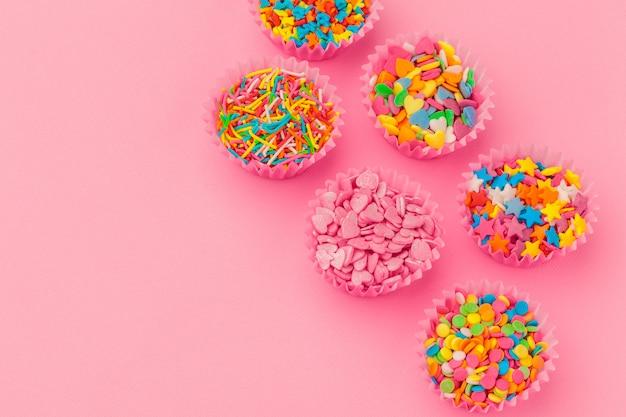 Spruzza lo zucchero colorato Foto Premium