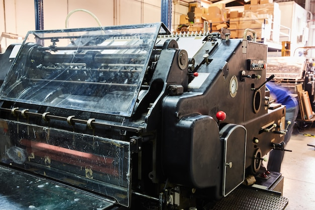 Stampante per litografia di stampanti a cilindri Foto Premium