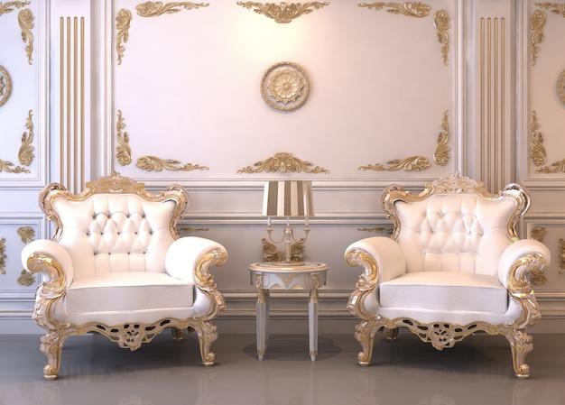Stanza interna di lusso 3d Foto Premium
