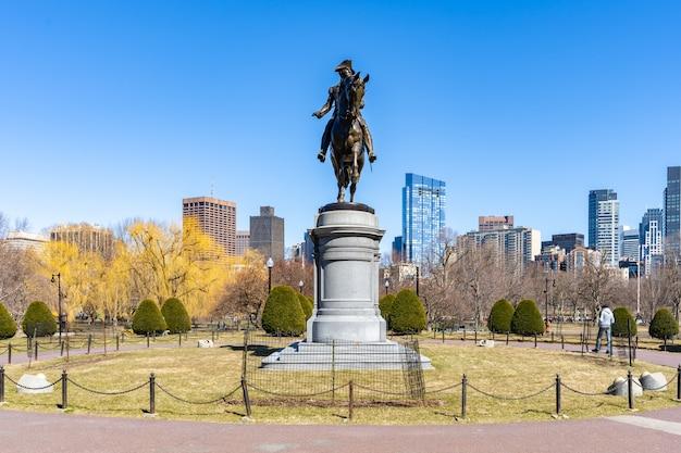 Statua di boston george washington Foto Premium