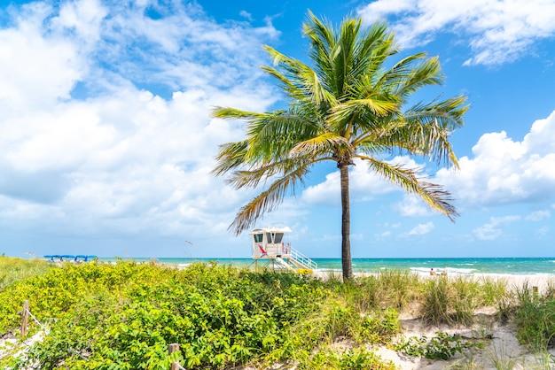 Stazione del bagnino sulla spiaggia a fort lauderdale, florida usa Foto Premium