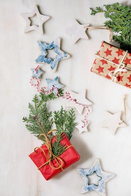 Stelle e regali di natale Foto Premium