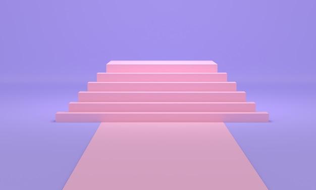 Stelle rosa su blu Foto Premium