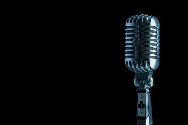 Stile retrò microfono audio Foto Premium