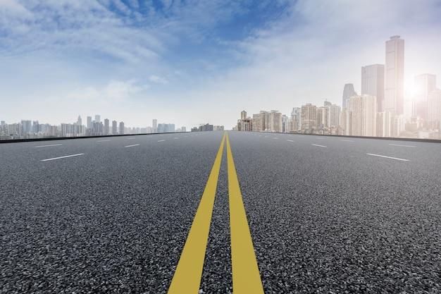 Strada del cemento finanziario del centro di shanghai Foto Gratuite
