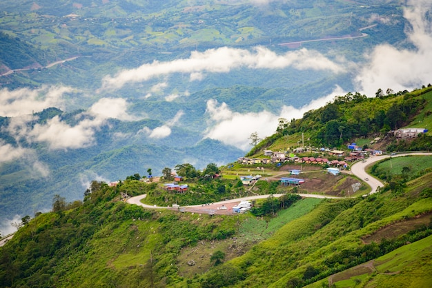 Strada della montagna a (phu tubberk) nel parco nazionale di phu hin rong kla Foto Premium