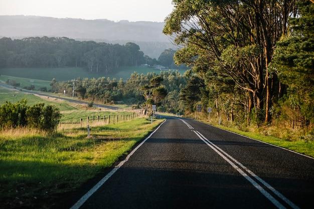 Strada e tramonto Foto Gratuite