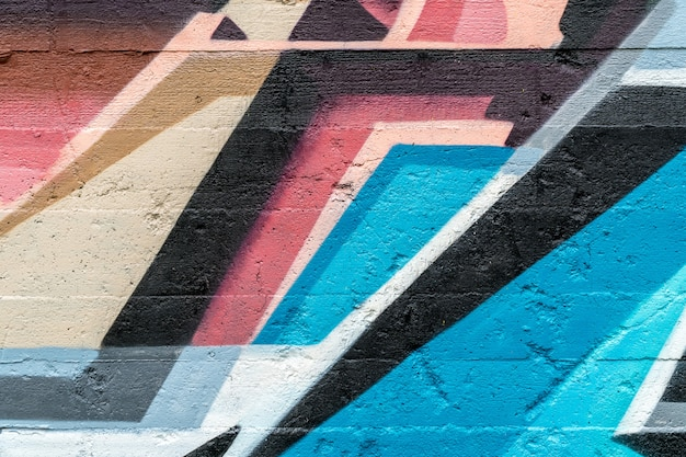 Street art, graffiti colorati sul muro Foto Premium