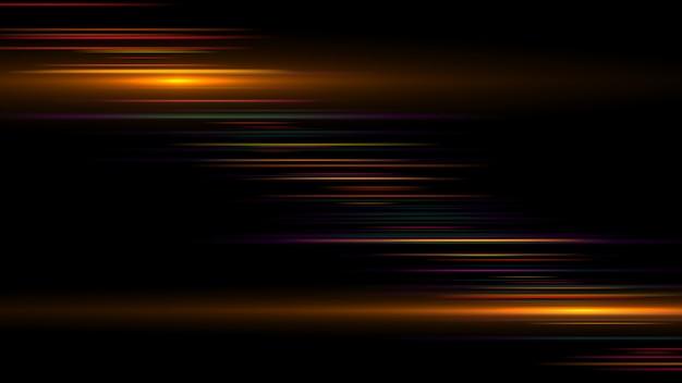Striscia luminosa dorata Foto Premium