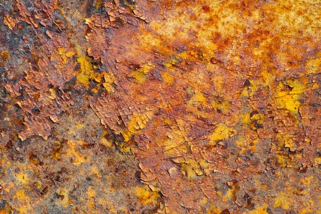 Struttura astratta del metallo arrugginito, sfondo Foto Premium