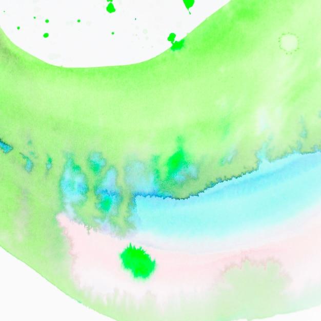 Struttura astratta della pittura della mano dell'acquerello verde e blu Foto Gratuite
