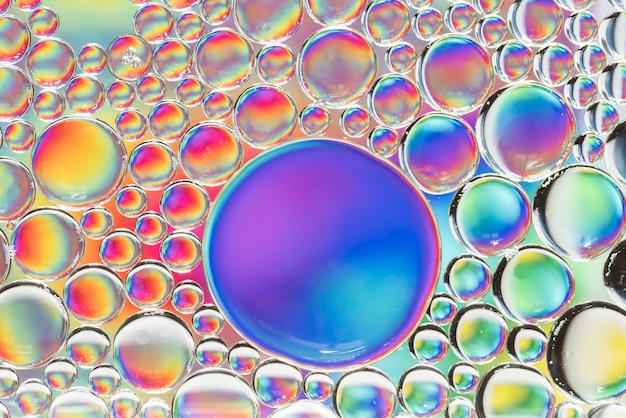 Struttura astratta delle bolle dell'estratto del rainbow Foto Gratuite