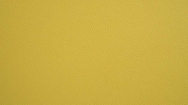 Struttura del cuoio di giallo di panorama del grunge. sfondo giallo. Foto Premium