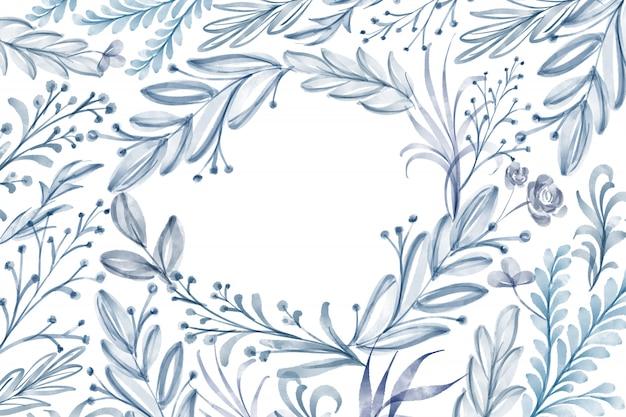 Struttura del fiore dell'acquerello foglia d'estate isolata su fondo bianco Foto Premium