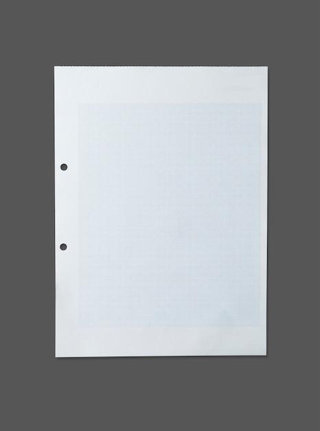 Struttura del foglio di carta bianca per fondo con il percorso di ritaglio. Foto Premium