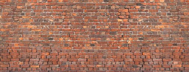 Struttura del muro di mattoni, fondo di vecchia muratura. Foto Premium