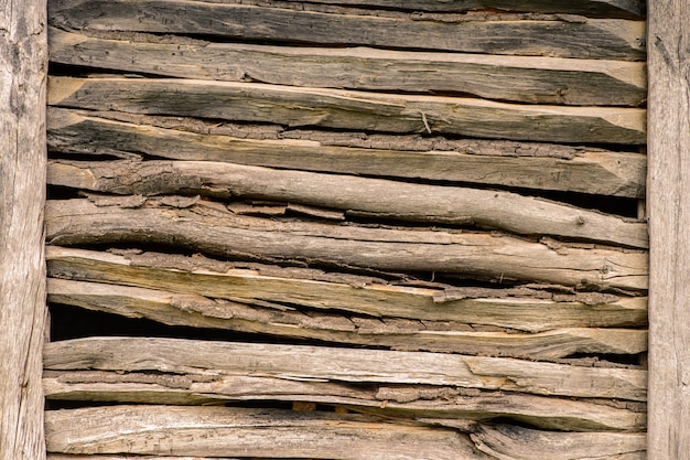 Struttura del muro forestale in legno Foto Premium