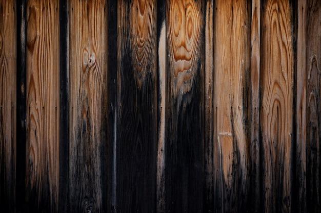 Struttura del vecchio fondo marrone del bordo di legno Foto Premium