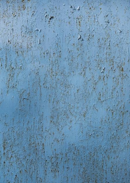 Struttura della parete blu dipinta incrinata Foto Gratuite