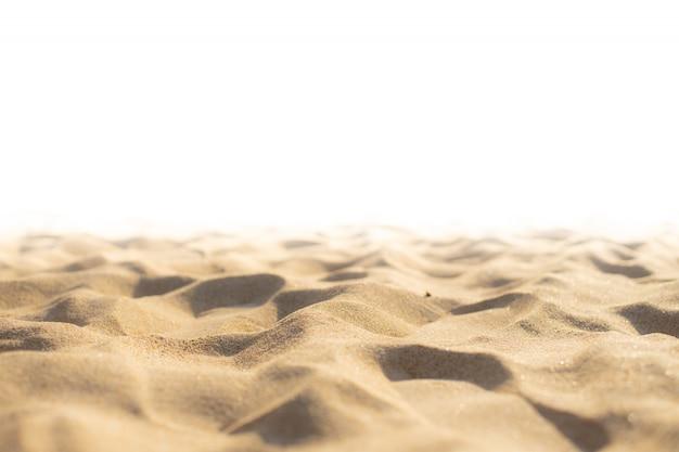 Struttura della sabbia sulla spiaggia come sfondo Foto Premium