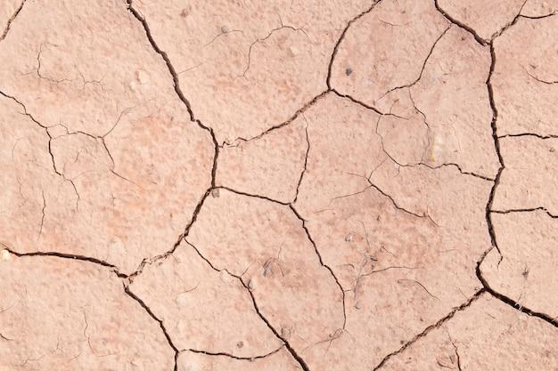 Struttura della sporcizia asciutta del suolo crackled o terra durante la siccità. Foto Premium