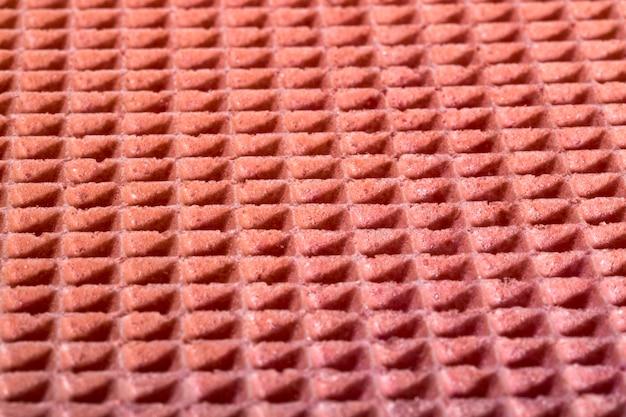 Struttura della superficie e del fondo di una cialda della confetteria nel colore rosa Foto Premium