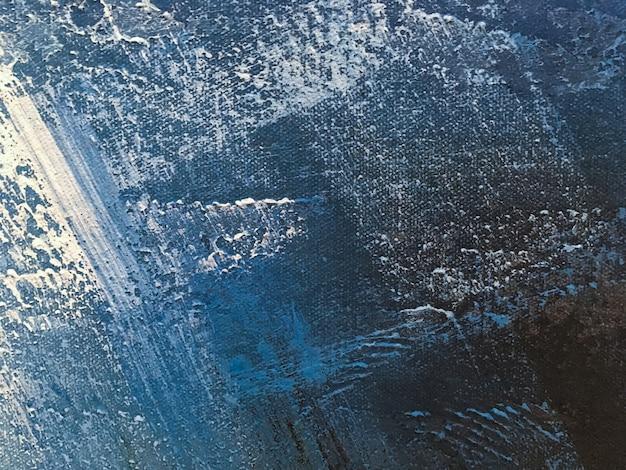 Struttura di dipingere il colore blu-chiaro del fondo di astrattismo. Foto Premium