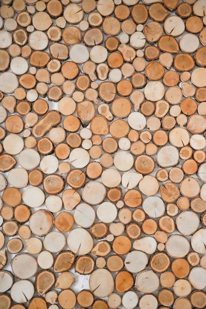 Struttura di legno naturale decorativa per decorazione d'interni Foto Premium