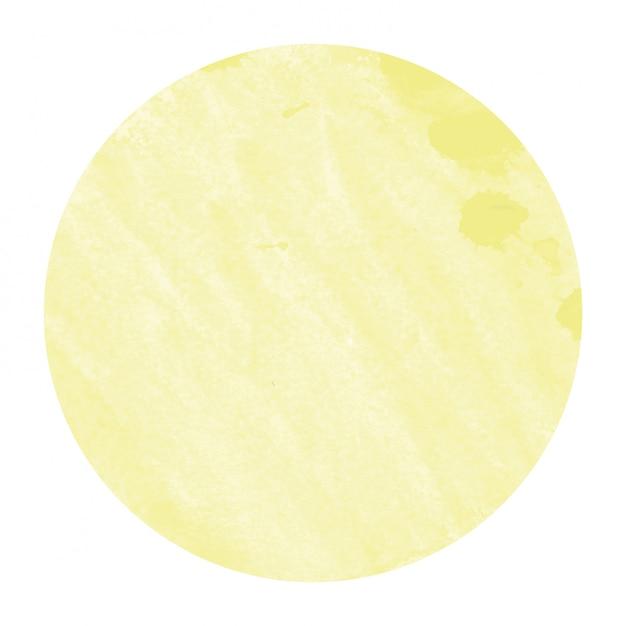 Struttura disegnata a mano gialla del fondo della struttura circolare dell'acquerello con le macchie Foto Premium