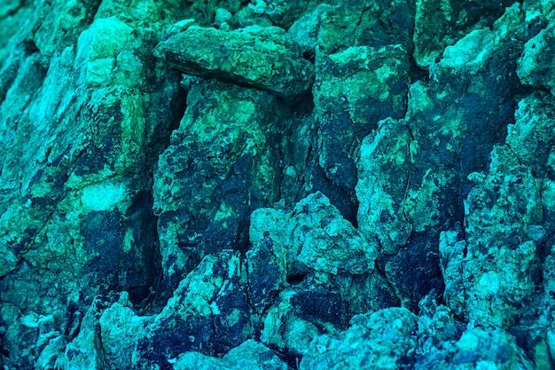 Struttura e fondo di pietra di lusso naturali per progettazione in acquamarina Foto Premium