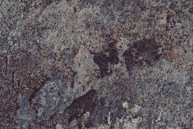Struttura in metallo con graffi e crepe, muro di ruggine Foto Premium