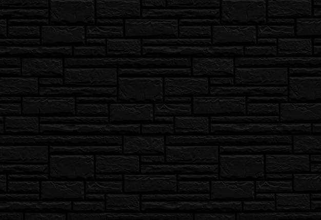 Struttura nera del muro di mattoni di una costruzione. Foto Premium