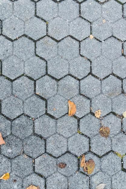 Struttura scura della fine del pavimento di pietra su Foto Premium