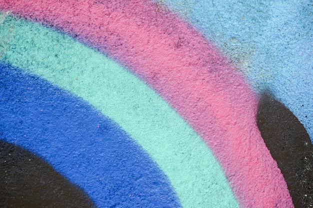 Struttura variopinta dei graffiti sulla parete come priorità bassa Foto Premium
