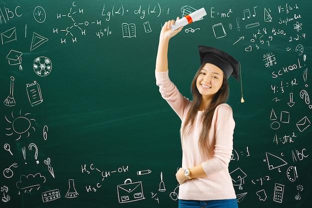 Studentessa / studentessa universitaria / studentessa teenager Foto Premium