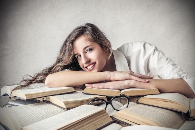 Studiare duramente e imparare Foto Premium