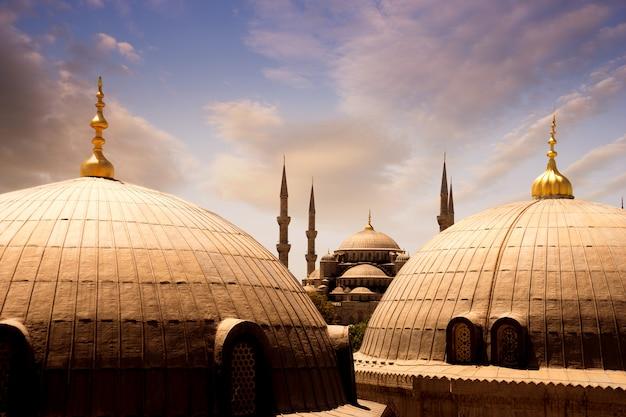 Sultan ahmed moschea blu, istanbul, turchia Foto Premium