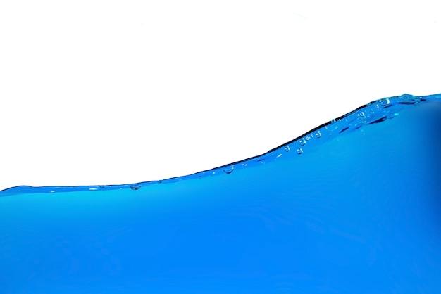 Superficie dell'acqua con bolle d'aria con schizzi Foto Premium
