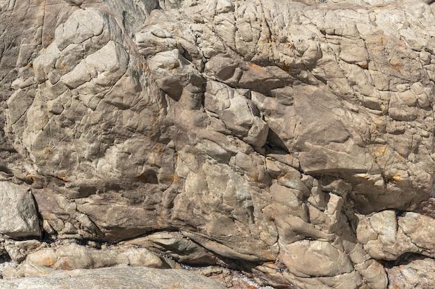 Superficie rocciosa esposta all'aria in campagna Foto Premium