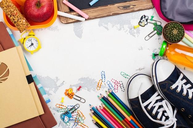 Supplementi di ritorno a scuola Foto Premium