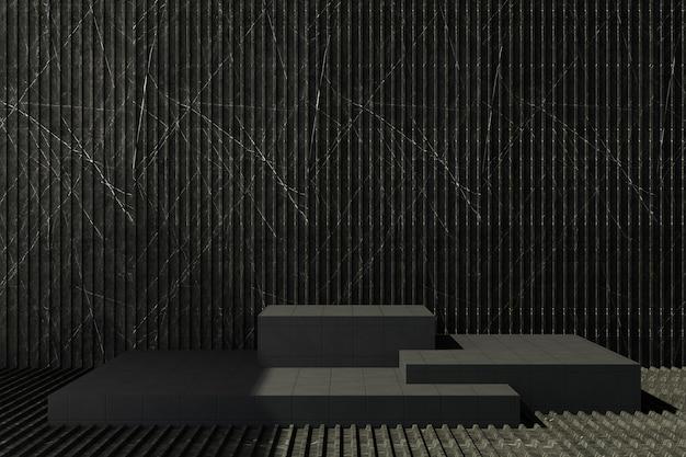 Supporto per piastrelle nere con fondo in marmo scuro Foto Premium