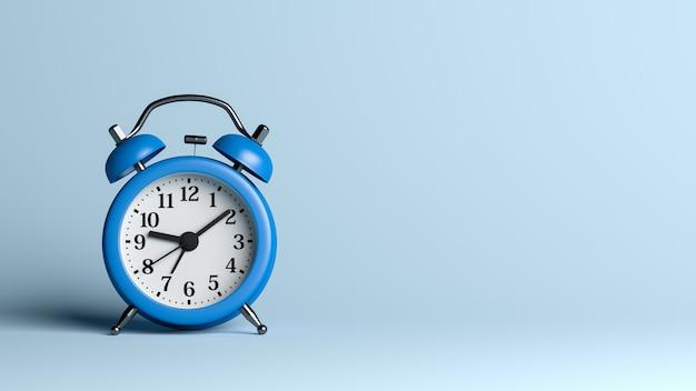 Sveglia blu su blu Foto Premium
